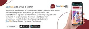 La commune de Menet dispose maintenant d'une Application afin de favoriser sa communication au niveau local et bien au delà